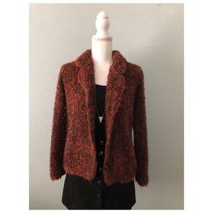 Carole Little Vintage tweed blazer jacket wool